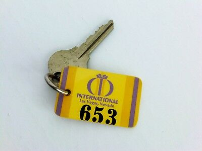 Vintage Las Vegas International Hotel casino Room Key 70's #653 Elvis