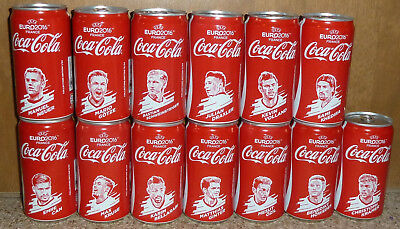 rare COCA-COLA Coke UEFA EURO 2016 soccer players 250ml cans GERMANY