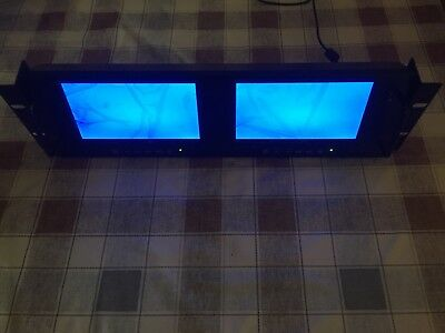 dual 7 inch rack video monitor twin screens