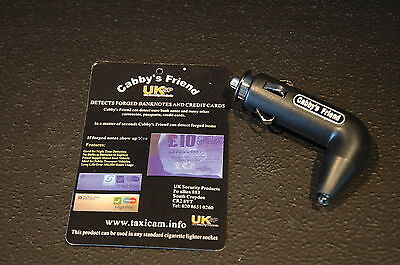 Taxi Cab UV ULTRA VIOLET Counterfeit Fake Forged Note Money Checker Detector