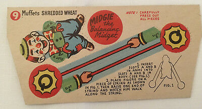 Muffets Shredded Wheat Ceral Box Toy Advertisement
