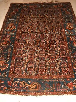 Old Persian Tribal Rug Malair Persischer Nomaden Teppich Malayer Tapetto Vecchio