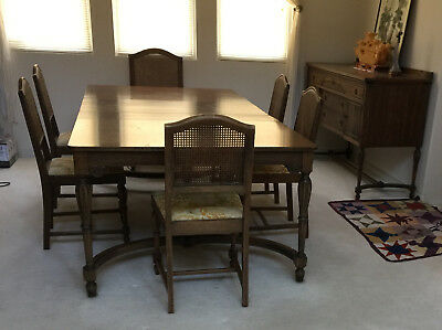 Vintage dining room set of 8 pc