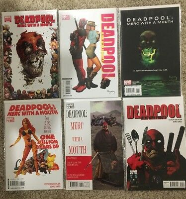 Deadpool Merc With A Mouth Lot 2(1:10), 5, 6, 8, 11 & 10 Marvel Comics