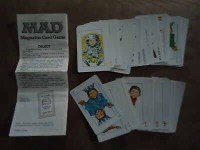 Mad Magazine Card Game extra cards & set of rules 1979
