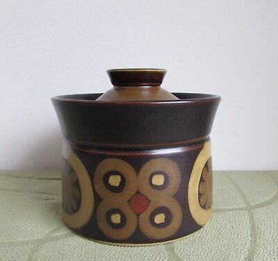 Denby Arabesque Samarkand Jar Sugar Box or Lidded Jam/Preserves Jar Retro 1970s