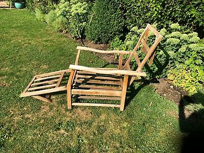 Vintage Garden Steamer Chair Wood