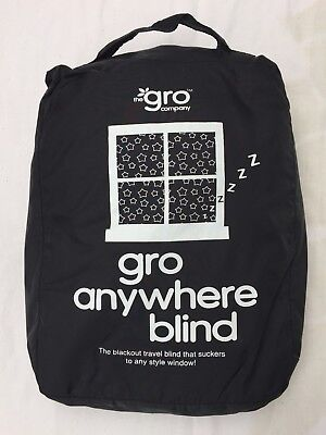 The Gro Company, Gro Anywhere Blackout Blind, Black, Moon and Stars