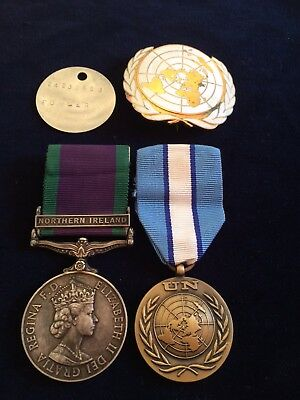 QEII 1962 GSM General Service Medal Northern Ireland and UNCYP MEDAL