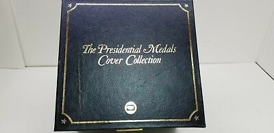 Presidential Medals Cover Collection 24kt Gold Collector Stamps USA Coin Set Box