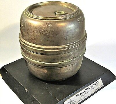 Anheuser Busch 40 Million Barrel Award Vintage 1978 Metal Beer Keg Trophy