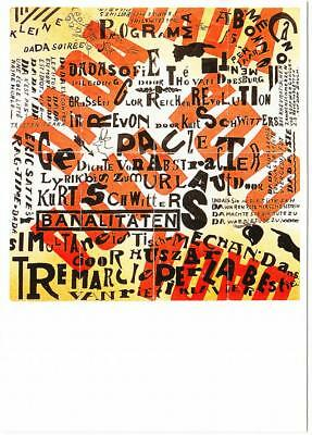 Postcard of Dada Exhibition Poster by Theo van Doesburg