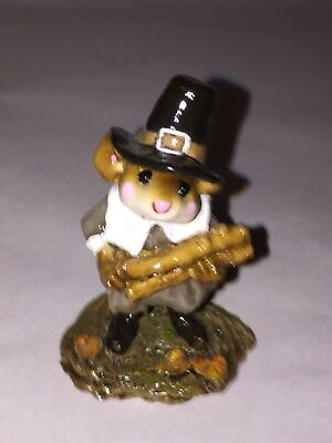 Wee Forest Folk Figurine Thanksgiving Pilgrims Welcome 1994