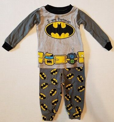 Batman Two Piece Long Sleeve I Am Batman Snug Fit Pajamas Boys 12 Months
