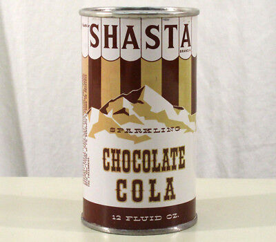 Shasta Chocolate Cola Pre-Zip Flat Top Soda Can San Francisco California Hasta B