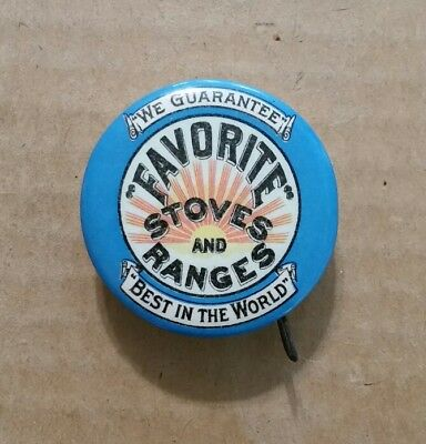 Favorite Stoves & Ranges,J.C.Young,Eldred,Pa.,Celluloid Tape Measure,1900's
