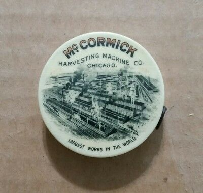 McCormick Harvesting Machine Co.Chicago,Ill.,Celluloid Tape Measure,1890's-1902