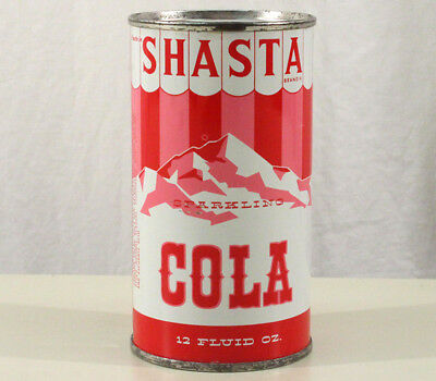 Shasta Cola Super Clean Pre-Zip Flat Top Soda Can San Francisco California Calif
