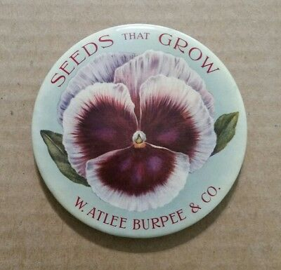 """""""Seeds That Grow"""" W.Atlee Burpee & Co.,Large (4"""") Advertising Mirror,1900's"""
