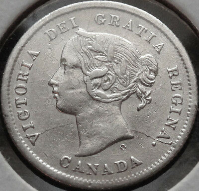 1872-H Canada Five Cents XF - Blast White - Trends $80!