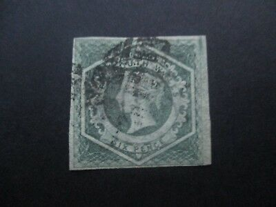 NSW Stamps: 6d Grey/ Green Watermark doubled line number  Free Post  (j25}