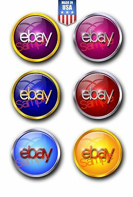 """New Improved  6-Color Round set eBay Sticker Decals Multi Pack 3"""" x 3"""" 60001"""