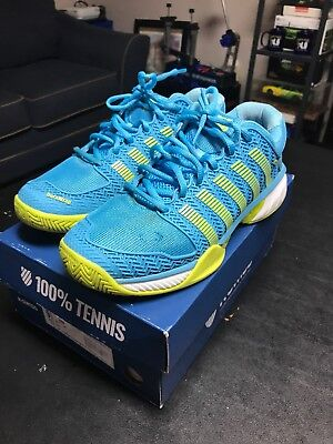 Womens K Swiss Hypercourt Express 9.5 Bright Blue And Lime Tennis Shoes