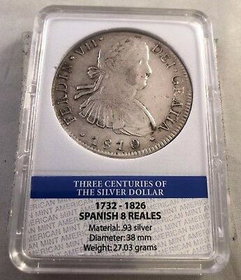 Three Centuries Of The Silver Dollar Spanish 8 Reales 0.93 Pure American Mint