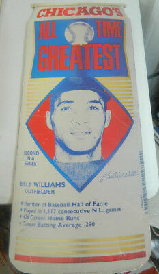 1990 Chicago Cubs Billy Williams Old Style Beer Can Cardboard Advertising Sign