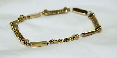 14K Yellow Gold Bracelet Women's, Men's Jewelry For Wear or Scrap.