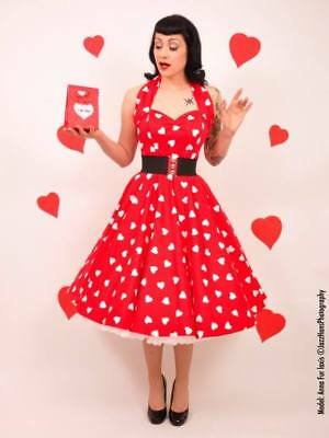 b882d99788 VIVIEN OF HOLLOWAY 'RED SWEETHEART' HNCD VoH 12 (large) cotton sateen