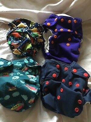 20 Smart Bottoms Baby Organic AIO Cloth Diapers HTF Prints LOT