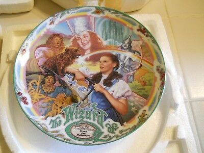 """1993 Knowles-Milnazik's Wizard Of Oz """"Over The Rainbow Music Box Plate No 12034A"""