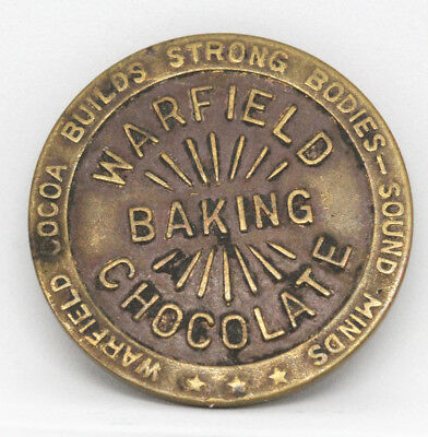Antique Warfield Baking Chocolate Advertising Coin