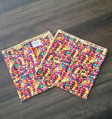 Longaberger Jelly Belly Fabric NAPKINS - Set of 2  Brand New!