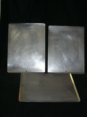 Lot of 3 Vintage Mirro Flat Aluminum Cookie Sheet Pan Turned Up Ends 15.5 x 12