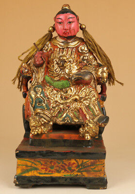 chinese old Wood Hand Carved mysterious Buddha Statue Collectable
