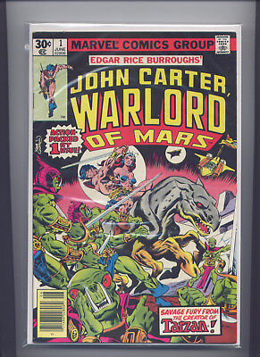 John Carter Warlord of Mars #1 (June 1977) 1st Marvel Issue, Solid,  See Scans