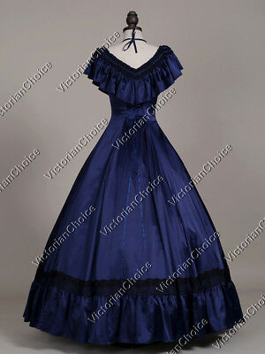 Victorian Belle Saloon Girl Fancy Dress Gown Witch Halloween Costumes N 127 L