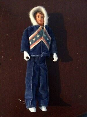 Vintage Ideal  Evel Knievel Figure snow suit