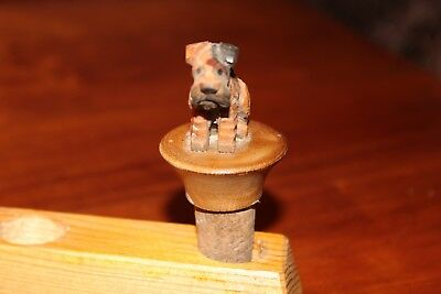 2 ANRI Sitting Dog Bottlestoppers - Part of Collection being sold off