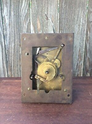 English 8 Day Weight Driven Tall Case Clock Movement & False Plate, Parts / Repa