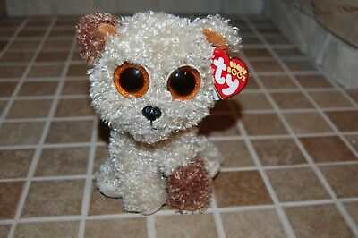 """TY Beanie Boo - 6""""  Puppy Dog Rootbeer - RETIRED- Beanie Baby Collection"""