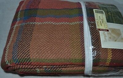 Longaberger 2006 Hostess TOBOSO PLAID THROW Cotton/Rayon Fabric - New Never Used