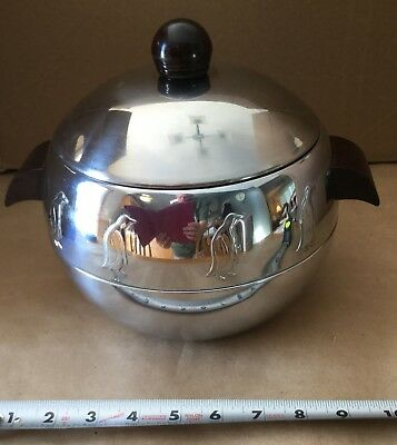 Vintage Mid Century West Bend Penguin Hot And Cold Server/Ice Bucket