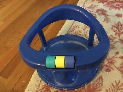 Baby Safety 1st First Blue Bath Tub Suction Seat Chair Ring w/ Suction Cups