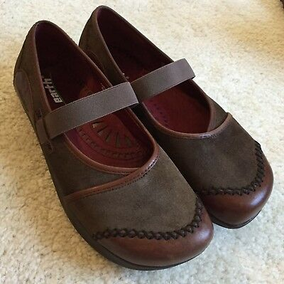 18fe4257c2 Women's Kalso Earth Shoe Caribou Allure Mary Jane Brown Leather Shoes 7 M  $110