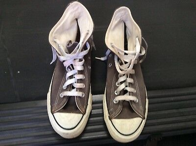Vintage Converse Mens Size 9 Made In USA Light Gray Suede