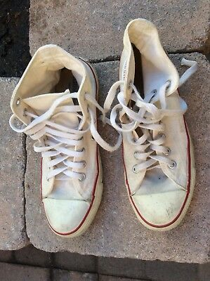 Vintage Converse White Size 7 1/2 Made In USA
