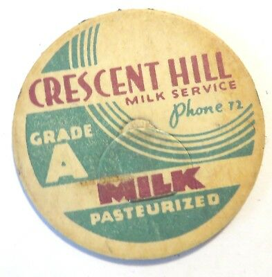 "Vintage Milk Dairy  Bottle Cap 1-5/8"" Crescent City Milk Service"